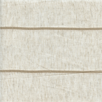 Institutions 01 Seagrass Beige Sheer Stripe Drapery Fabric Swatch