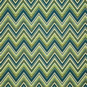 Fischer Lagoon Blue 45885-0000 Chevron Outdoor Fabric by Sunbrella