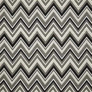 Fischer Graphite Grey 45885 0004 Chevron Outdoor Fabric By