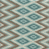 M9559 Zig Zag Aqua Woven Upholstery Fabric