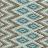 M9559 Zig Zag Aqua Woven Upholstery Fabric Swatch