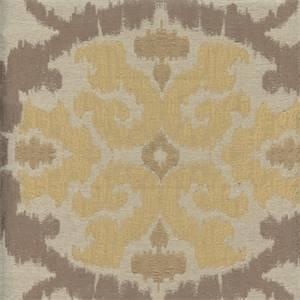 Raphael Mocha Tan Ikat Drapery Fabric Swatch
