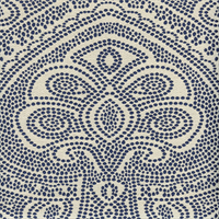 Arrowpoint #31 Fountain Blue Dotted Floral Upholstery Fabric Swatch