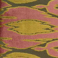 Maldives Velvet Henna Pink Cut Velvet Upholstery Fabric Swatch