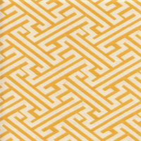 Amazed Key Summer Yellow Key Design Upholstery Fabric Swatch