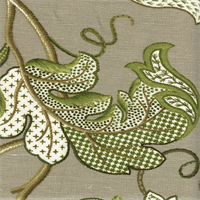 Erin Leaf Sampler Leaf Green Drapery Fabric