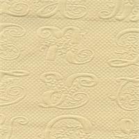 Script M Buttercup Matelasse Drapery Fabric Swatch
