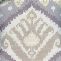 Sojourn Silhouette Gray Ikat Drapery Fabric Swatch