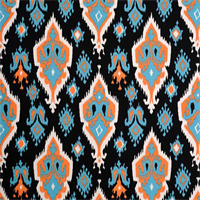 Premier Ikat Apache Macon Orange Contemporary Drapery Fabric by Premier Prints