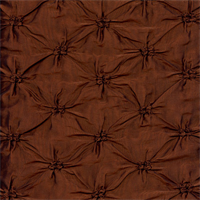 Pintuck Irisdescent Copper Faux SIlk Drapery Fabric