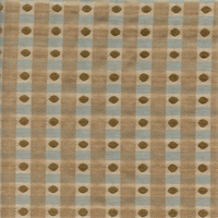 Dotty Glacier Blue Brown Drapery Fabric Swatch