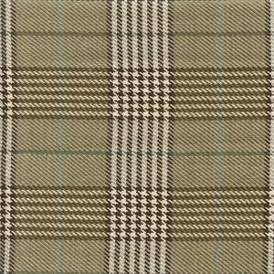 D2982 Newbury Plaid Sand Tan Plaid Upholstery Fabric