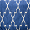 Monaco Cobalt Blue Ikat Design Cotton Drapery Fabric Swatch