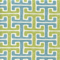 Chiara Sussex Pool Blue Green Cotton Geometric Drapery Fabric by Swavelle Mill Creek