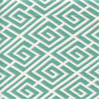 Quadratto Sussex Caribbean Blue Geometric Cotton Drapery Fabric by Swavelle Mill Creek Swatch