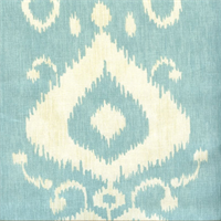 Tullahoma Paramount Icecap Blue Ikat Cotton Drapery Fabric by Swavelle Mill Creek
