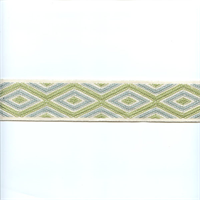SB205/05 Blue and Green Tape Trim Swatch