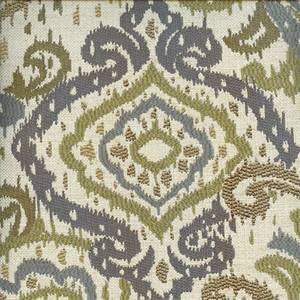 Sardina Willow Green Paisley Ikat Design Upholstery Fabric by Swavelle Mill Creek Swatch