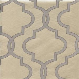 Rockland #5 Silver Jacquard Geometric Design Upholstery Fabric Swatch