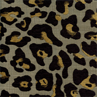 Skin Tight Ebony Black Animal Chenille Upholstery Fabric by Swavelle Mill Creek Swatch