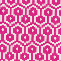 Jamboree Tutti Fruitti Pink Woven Geometric Upholstery Fabric by P Kaufmann Swatch