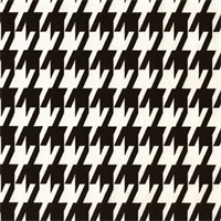 Large Houndstooth Black/White by Premier Prints Swatch