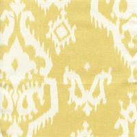 Raji Saffron Yellow Cotton Ikat Drapery Fabric Swatch