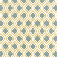 Curtis Saffron Macon Yellow Moroccan Tile Drapery Fabric by Premier Prints