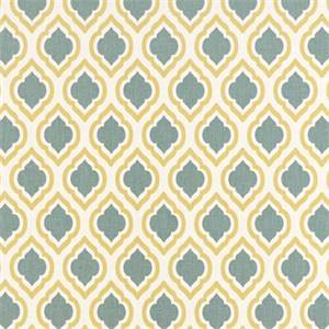 Curtis Saffron Macon Yellow Moroccan Tile Drapery Fabric by Premier Prints 30 Yard Bolt