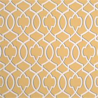 Morrow Saffron Yellow Macon Geometric Design Drapery Fabric by Premier Prints Swatch