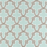 Hiro Snowy Slub Blue Geometric Design Drapery Fabric by Premier Prints