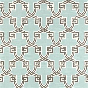 Hiro Snowy Slub Blue Geometric Design Drapery Fabric by Premier Prints 30 Yard Bolt