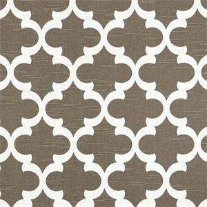 Fynn Spirit Brown Slub Geometric Design Drapery Fabric By