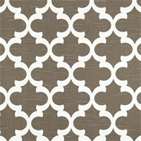 Fynn Spirit Brown Slub Geometric Design Drapery Fabric by Premier Prints
