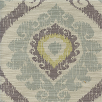 Victoria Spa Natural Gray Ikat Design Drapery Fabric
