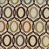 Vera Mineral Brown Contemporary Drapery Fabric
