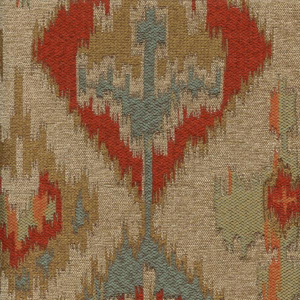 Tonopah Sunrise Blue Ikat Latex Backed Upholstery Fabric By Swavelle