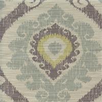 Victoria Spa Natural Gray Ikat Design Drapery Fabric Swatch