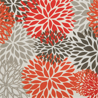 Blooms Salmon Outdoor by Premier Prints Swatch