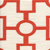 Ellington #340 Paprika Red Woven Geometric Upholstery Fabric Swatch