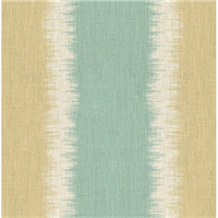 Sandy Beach Blue Beige White Ikat Stripe Drapery Fabric Swatch