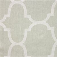 Moroccan Tile Green White Drapery Fabric