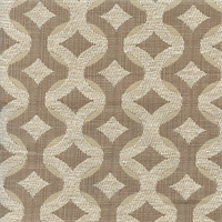 Talvin Ivory Taupe Geometric Upholstery Fabric by Swavelle Mill Creek Swatch