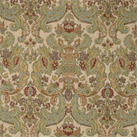 Grand Floral Brown Orange Green Floral Drapery Fabric