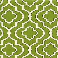 Donetta Tealeaf Green Geometric Twill Cotton Drapery Fabric by Swavelle Mill Creek