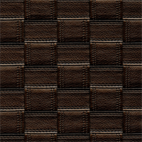 Aruba Coffee Brown Top Stitched Squares Vinyl