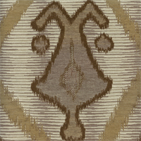 Mountain Cabin Brown Woven Ikat Upholstery Fabric