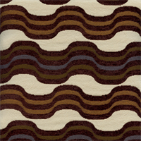 Vertigo Multi Brown Wavy Stripe Chenille Upholstery Fabric