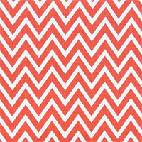 Cosmo Coral White Chevron Drapery Fabric by Premier Prints