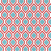 Curtis Carmine Red Moroccan Tile Drapery Fabric by Premier Prints